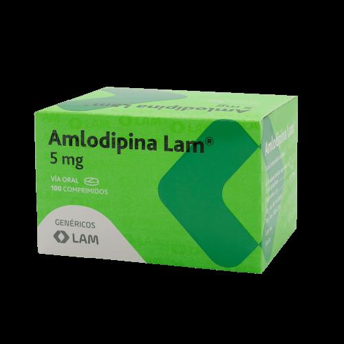 AMLODIPINA LAM 5MG/100 COMPS.***DET