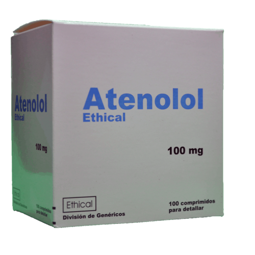 ATENOLOL 100MG ETHICAL DET***100 COMPS.