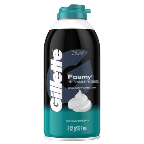 Gillette espuma foamy sensitive 11oz ref.4145