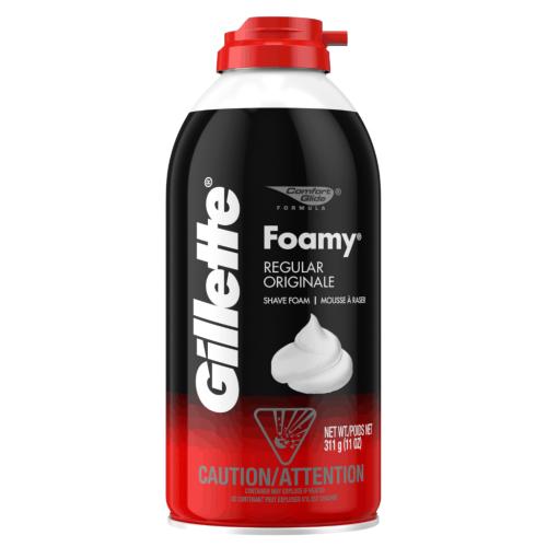Gillette espuma foamy regular 11oz ref.4040